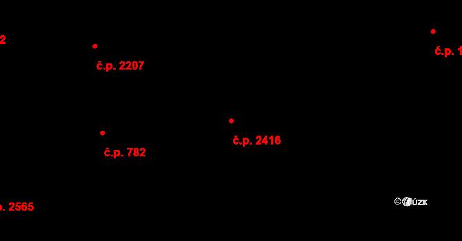 Moravská Ostrava 2416, Ostrava na parcele st. 959 v KÚ Moravská Ostrava, Katastrální mapa