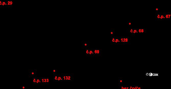 Sokolov 69 na parcele st. 196 v KÚ Sokolov, Katastrální mapa