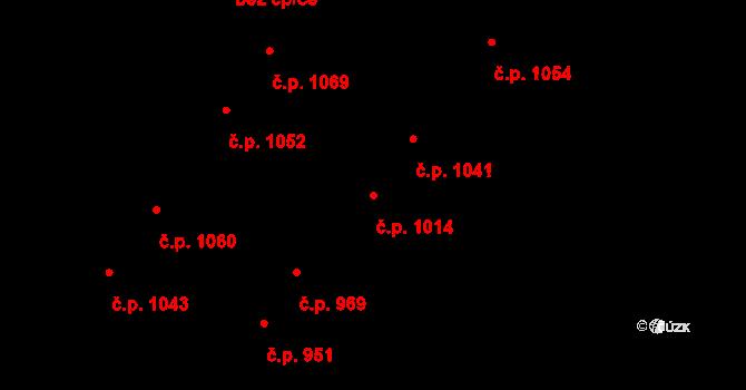 Bílé Předměstí 1014, Pardubice na parcele st. 3342 v KÚ Pardubice, Katastrální mapa