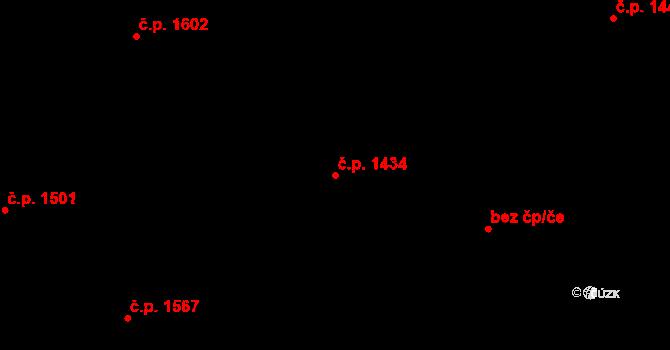 Úvaly 1434 na parcele st. 3268/21 v KÚ Úvaly u Prahy, Katastrální mapa