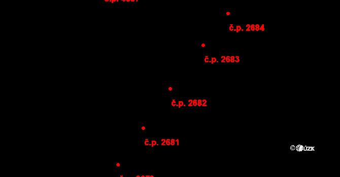 Prostějov 2682 na parcele st. 4890 v KÚ Prostějov, Katastrální mapa