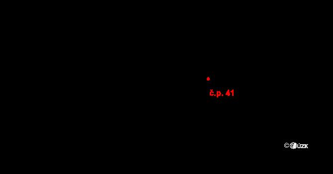 Davle 41 na parcele st. 73/1 v KÚ Davle, Katastrální mapa