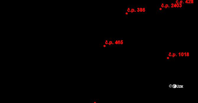 Aš 465 na parcele st. 243 v KÚ Aš, Katastrální mapa