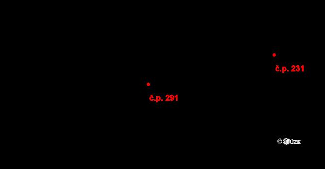 Řepy 291, Praha na parcele st. 352/2 v KÚ Řepy, Katastrální mapa