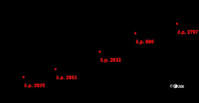 Žižkov 2832, Praha na parcele st. 1811 v KÚ Žižkov, Katastrální mapa