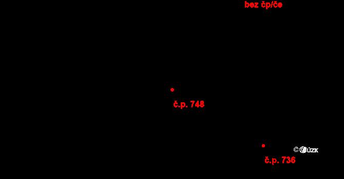 Vejprnice 748 na parcele st. 233/7 v KÚ Vejprnice, Katastrální mapa