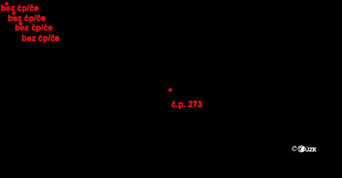 Jenišov 273 na parcele st. 779/2 v KÚ Jenišov, Katastrální mapa