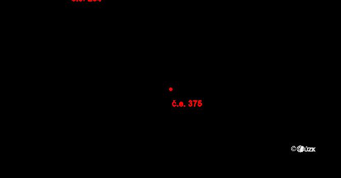 Žabovřesky 375, Brno na parcele st. 5634/13 v KÚ Žabovřesky, Katastrální mapa