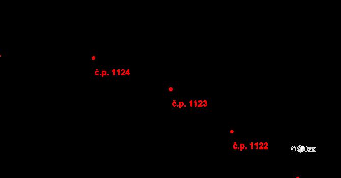 Jemnice 1123 na parcele st. 775/8 v KÚ Jemnice, Katastrální mapa