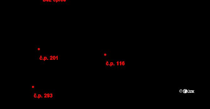 Hradčany 116, Praha na parcele st. 514/3 v KÚ Hradčany, Katastrální mapa