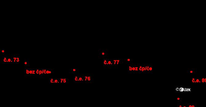 Prštné 77, Zlín na parcele st. 869 v KÚ Prštné, Katastrální mapa