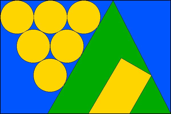 Blučina - vlajka