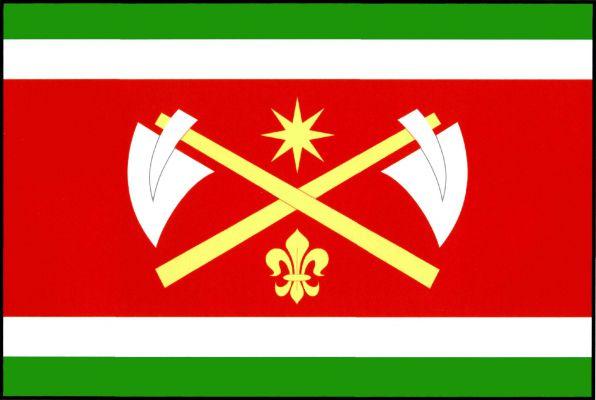 Chaloupky - vlajka