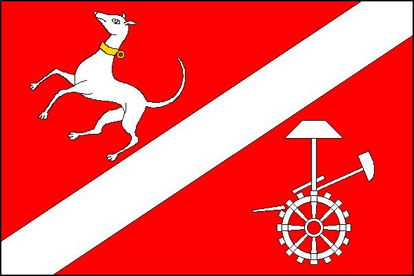 Dýšina - vlajka