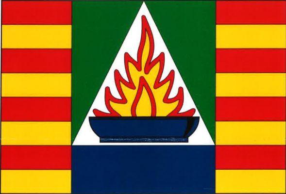 Hlubočky - vlajka