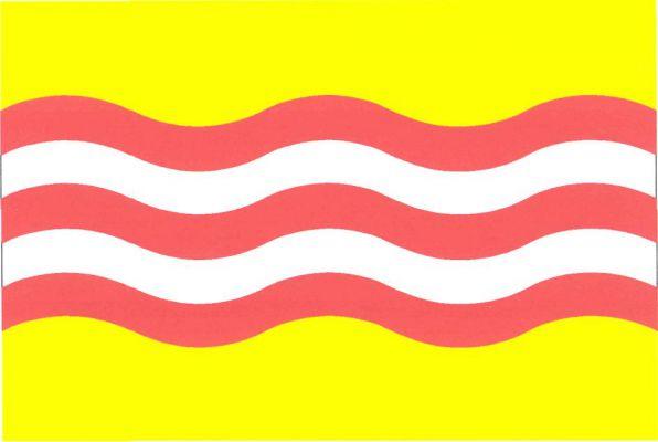 Hluboká nad Vltavou - vlajka