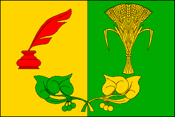 Hněvčeves - vlajka