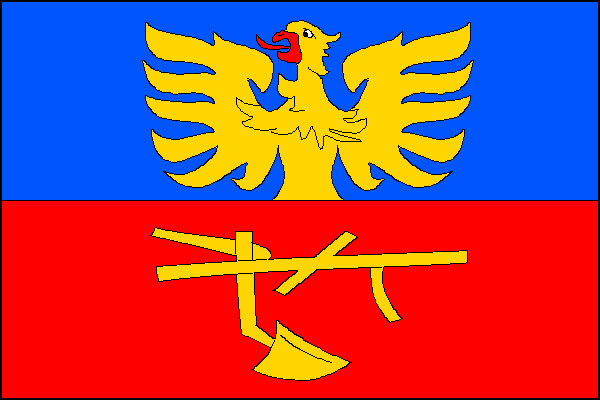 Komorní Lhotka - vlajka