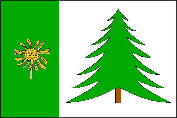 Kubova Huť - vlajka