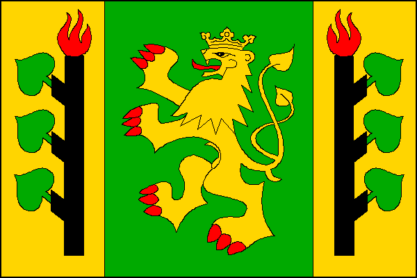 Lesná - vlajka