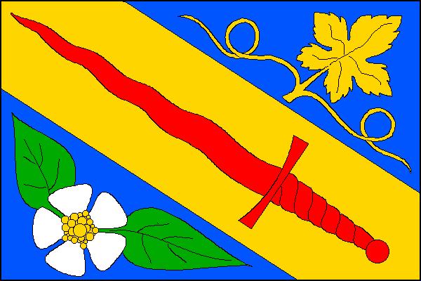 Michalovice - vlajka