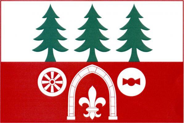 Mukařov - vlajka