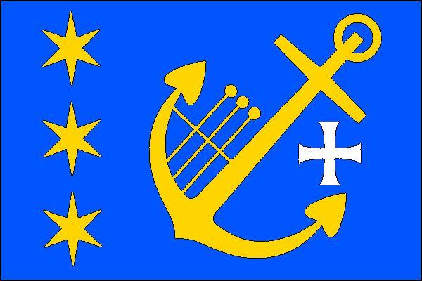 Obříství - vlajka