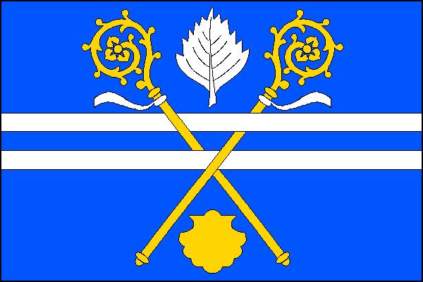 Panenské Břežany - vlajka