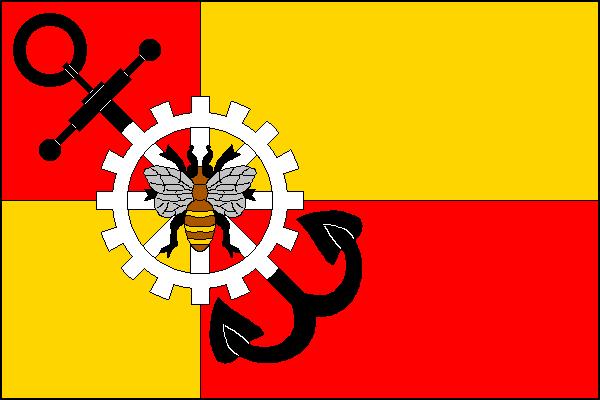 Plesná - vlajka