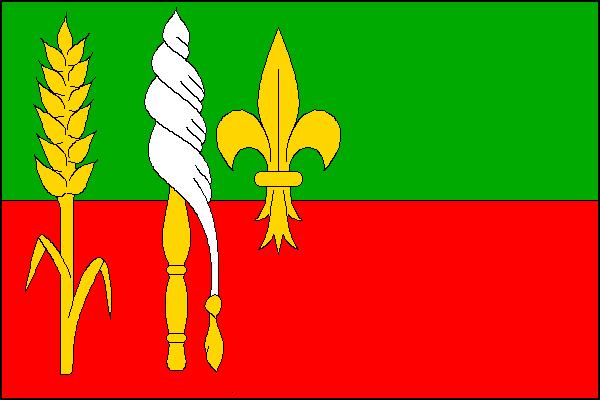 Přáslavice - vlajka