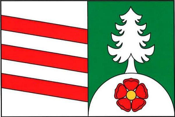 Těškov - vlajka