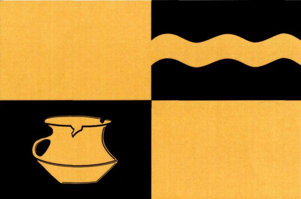 Únětice - vlajka