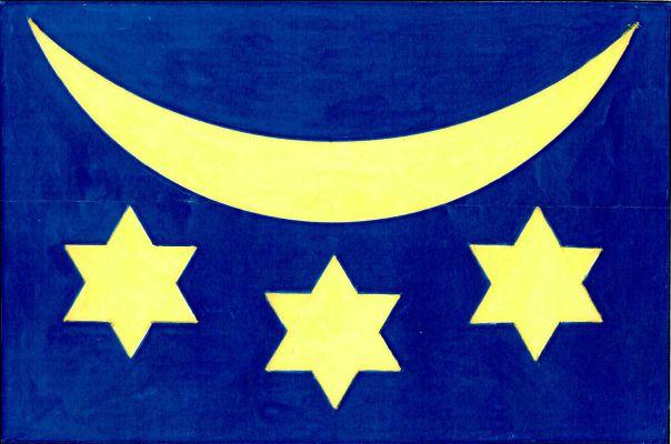 Velká Bystřice - vlajka