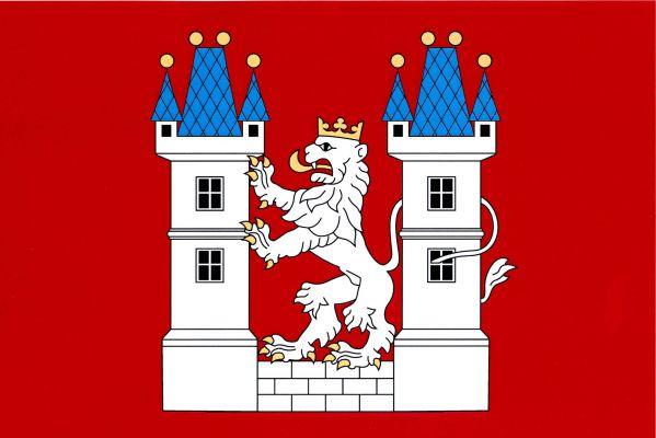 Velvary - vlajka