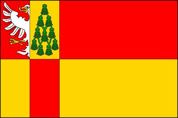 Vestec - vlajka
